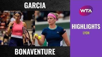 Caroline Garcia vs. Ysaline Bonaventure   2020 Lyon Second Round   WTA Highlights