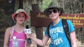 Erawan National Park Thailand 7 Level Waterfalls Kids Travel News 2014