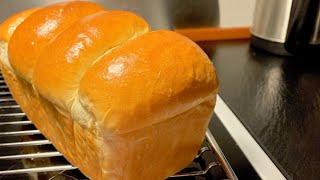 Bánh mì sữa Hokkaido(tangzhong)_hướng dẫn làm bánh mì sữa Nhật Bản siêu mềm_Bếp Hoa