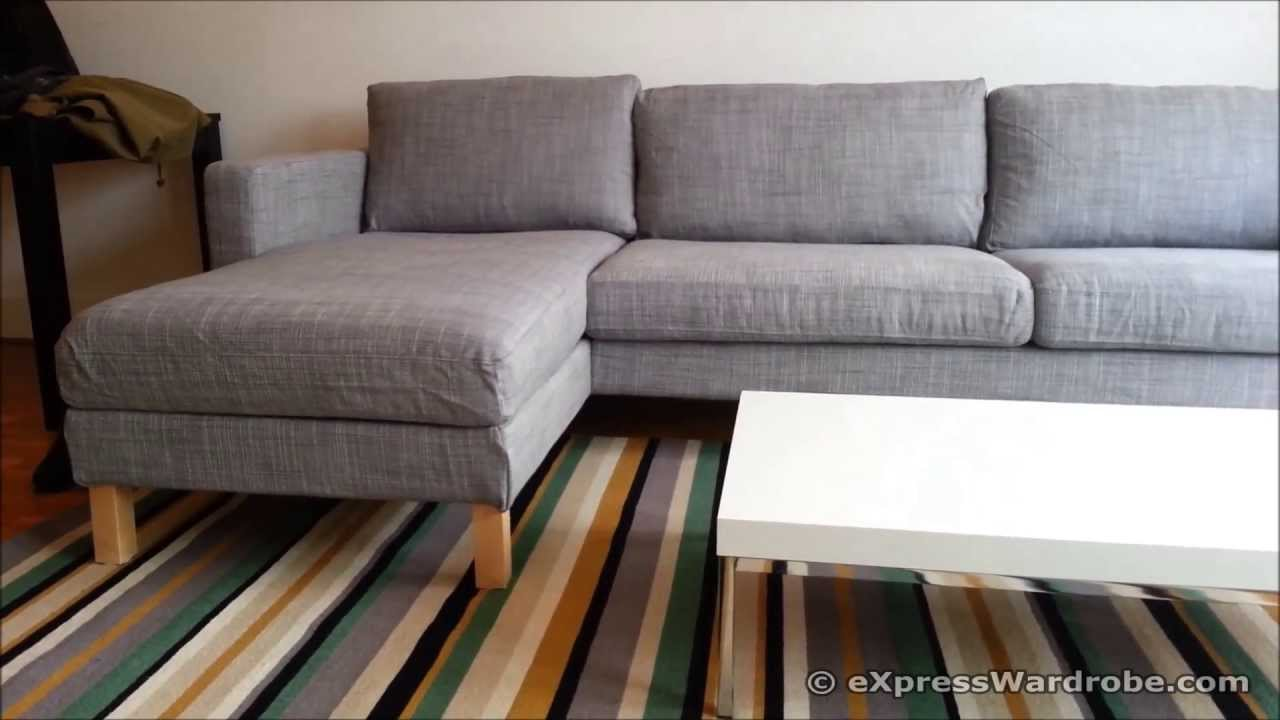 Schlafsofa ecksofa ikea  IKEA Karlstad Sofa and Chaise Longue Design - YouTube