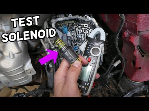 HOW TO TEST TRANSMISSION SOLENOID ON CHEVROLET BUICK 6T30 6T35 6T40 6T45 6T50 TRANSMISSION