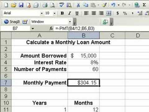 standard loan analysis calculator