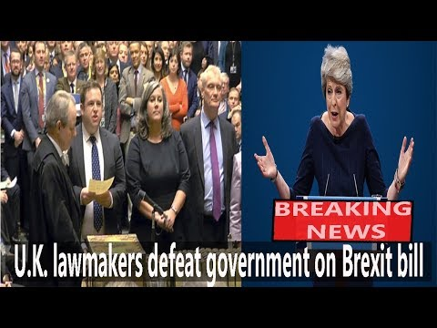 U.K. Lawmakers defeat government on Brexit bill || World News Radio