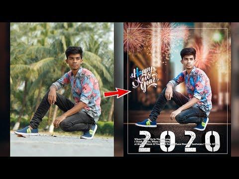Happy New Year 2020 creative photo editing tutorial🔥  Advance photo editing like photoshop thumbnail