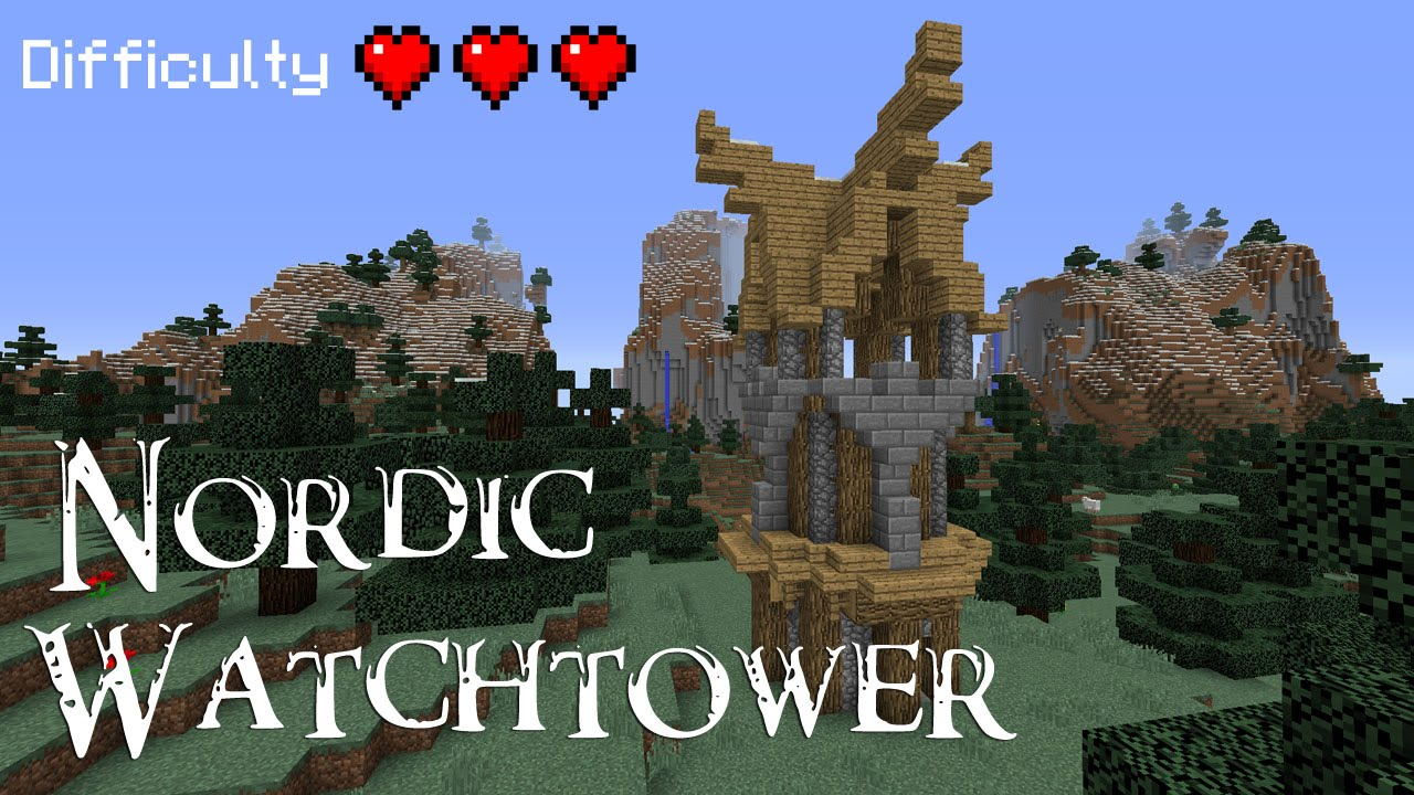 Minecraft How To Build A Nordic Watchtower Youtube