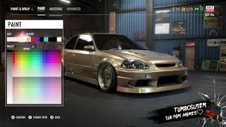 NFS PAYBACK - Honda civic customization, ricer pt 1
