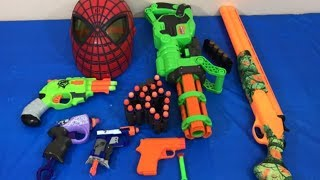 Box of Toys Toy Guns NERF Guns Spiderman Fun