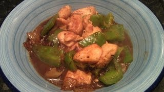 How To Make Chicken And Green Pepper In Black Bean Sauce - Simon Lam's Yum Yum Food
