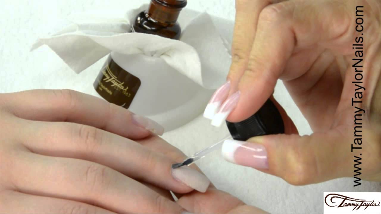 ♡ Tammy Taylor - How To: Color Acrylic Nail Fill-in with Repairs ...