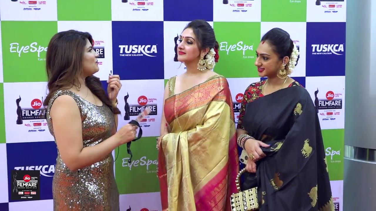 With Sridevi Vijaykumar at the 65th JIO Filmfare Awards (South) 2018