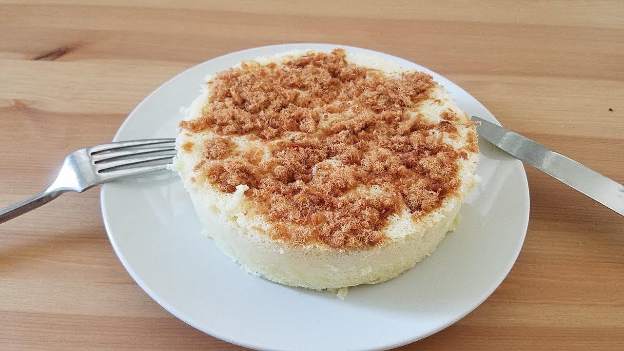 [實驗室]水蒸蛋糕 不乾澀全蛋食譜版 6 inch Steamed Cake (English subtitle) - YouTube