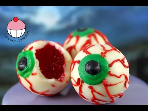 Halloween Jello Eyes! Make NO BAKE Halloween Treats - A Cupcake Addiction How To Tutorial