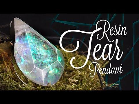 How to make RESIN TEAR pendant [DIY]