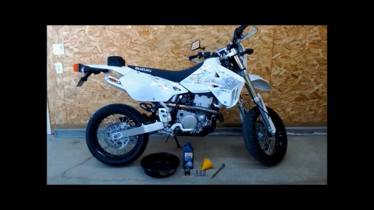 How To Do An Oil Change On A DRZ400 SM. - YouTube