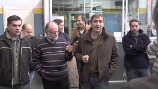 Ariel Notta con empresarios y trabajadores de la textil Italcolore