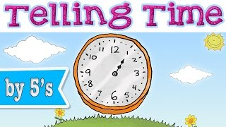 Telling Time with Minutes - Learning Chant for Kids (w/ SelinaBee) - Teaching Clock