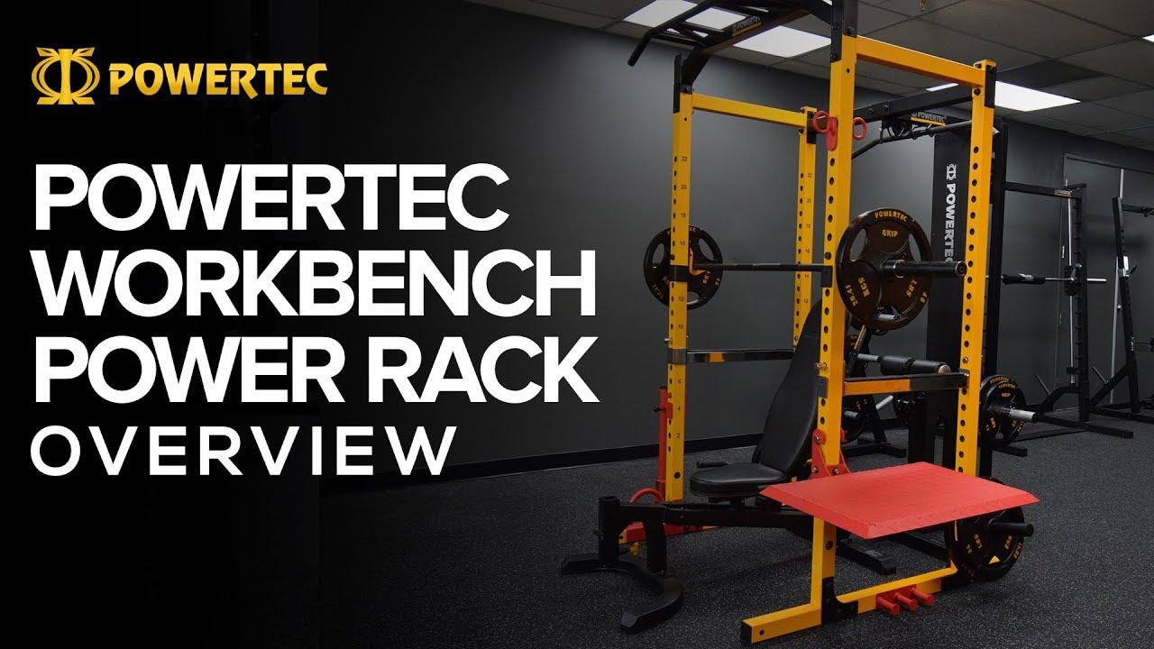 Powertec workbench power rack full demo youtube
