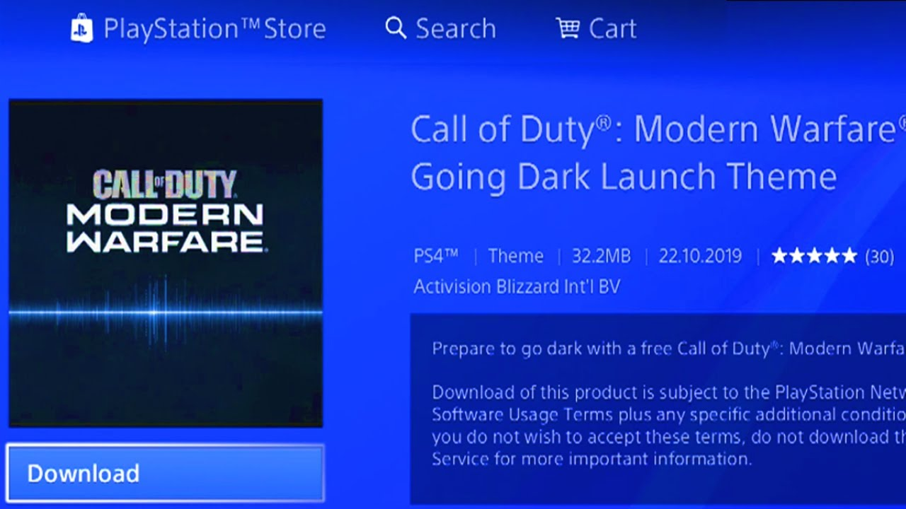 How To Download Free Modern Warfare Ps4 Theme Call Of Duty