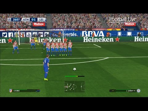PES 2017 | Atletico Madrid vs Leicester City | Free Kick Goal Jamie Vardy | UEFA Champions League