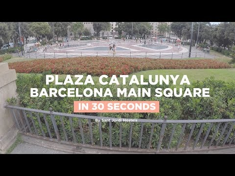 Catalunya Square in Barcelona