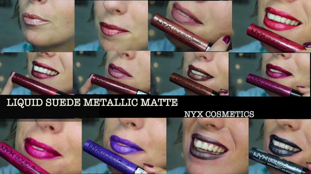 Liquid Suede Metallic Matte Di Nyx Swatches E Applicazione