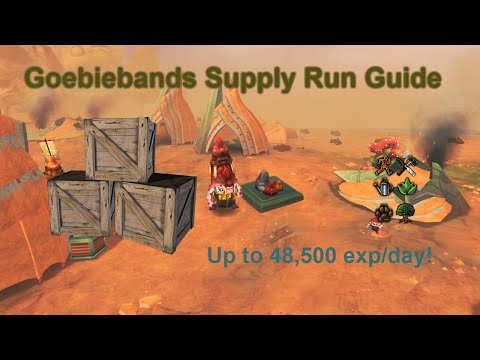 [Runescape 3] Goebiebands Supply Run Guide | 48.5k exp in 3 mins/day!