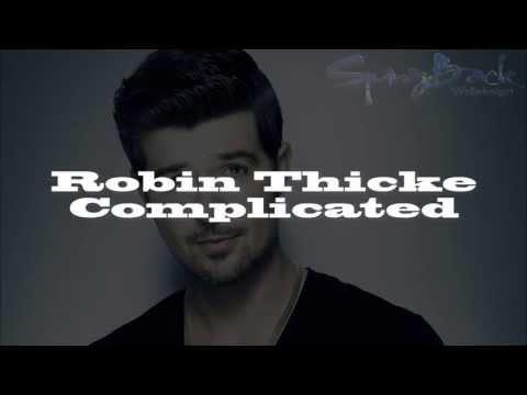 Robin Thicke - Complicated [Lyrics on Screen]