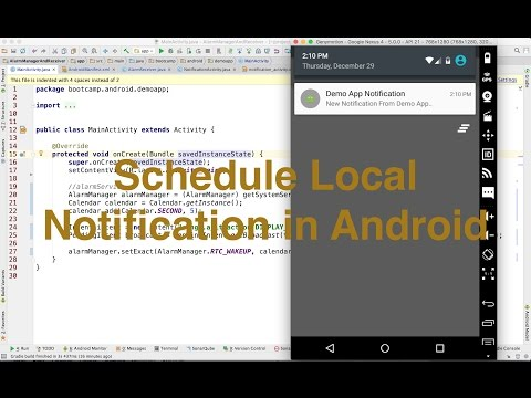 Schedule local notification in android - Ajit Singh