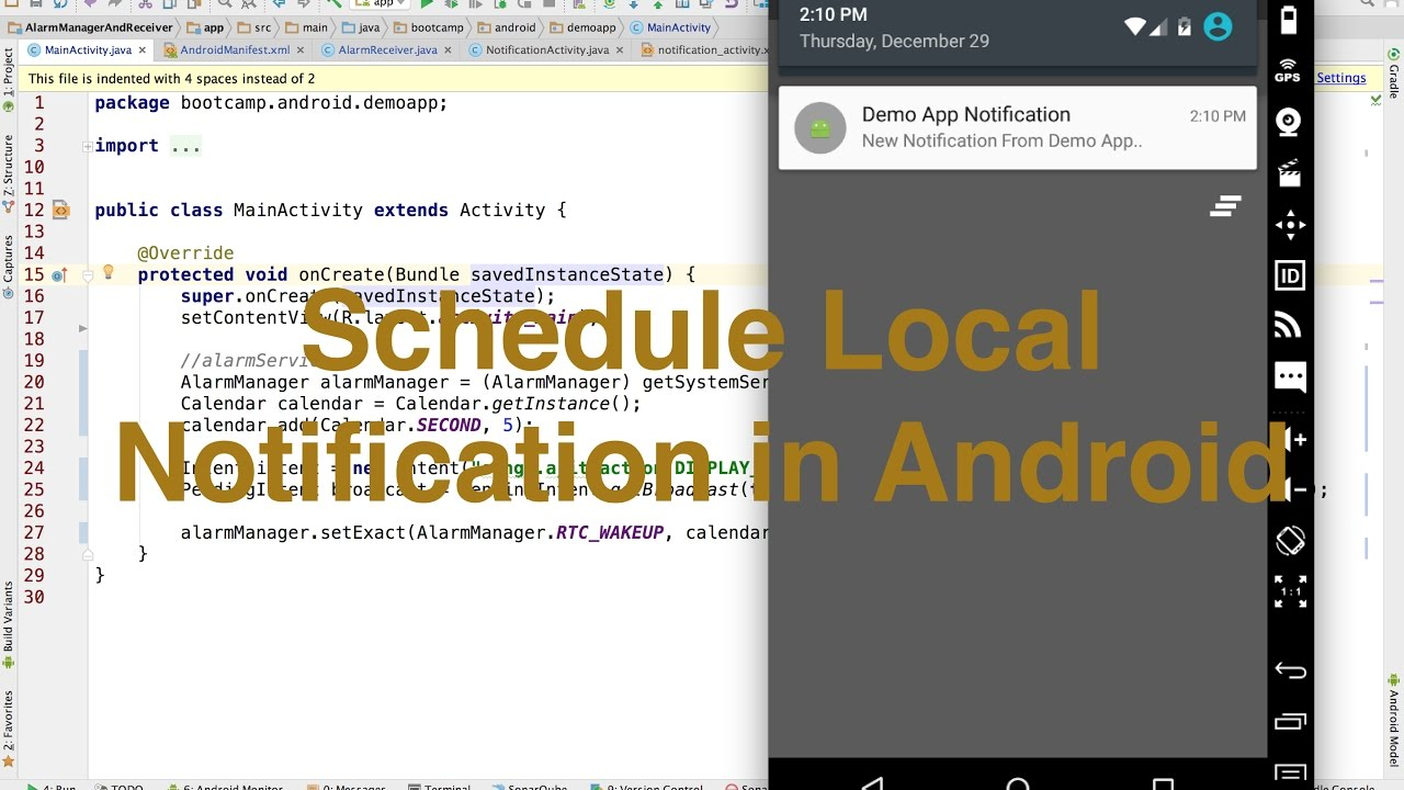 Schedule Local Notification in Android Step by Step || Ajit Singh