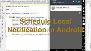 This video will explain how you can schedule a local notification i...