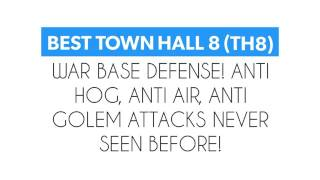 BEST TOWN HALL 8 (TH8) WAR BASE DEFENSE! ANTI HOG, ANTI AIR, ANTI GOLEM ATTACKS NEVER SEEN BEFORE !