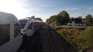 Cabinerit sneltrein Groningen - Leeuwarden 5 oktober 2018