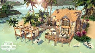 CASA NA ILHA DO VULCÃO │Volcano Island House│The Sims 4 (Speed Build)