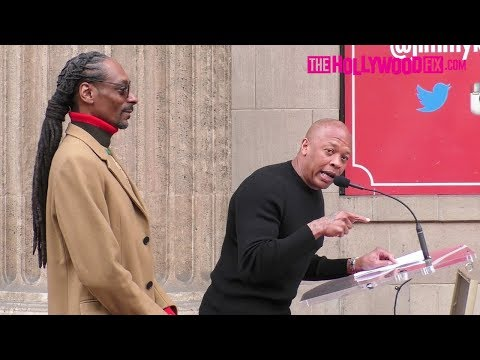 Dr. Dre Speaks At Snoop Dogg's Hollywood Walk Of Fame Ceremony 11.19.18