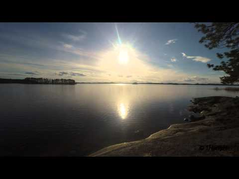 4K Spring on shore Lake Saimaa- Sound of birds on beach - for perfect relaxation