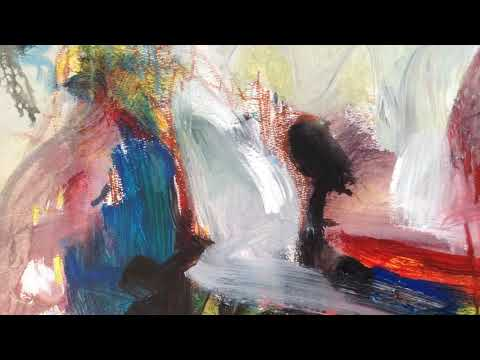 modern abstract landscape painting acrylic oil pastel art by sj.kim,384
