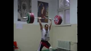 Ilya Ilin 230 kg c&j on training