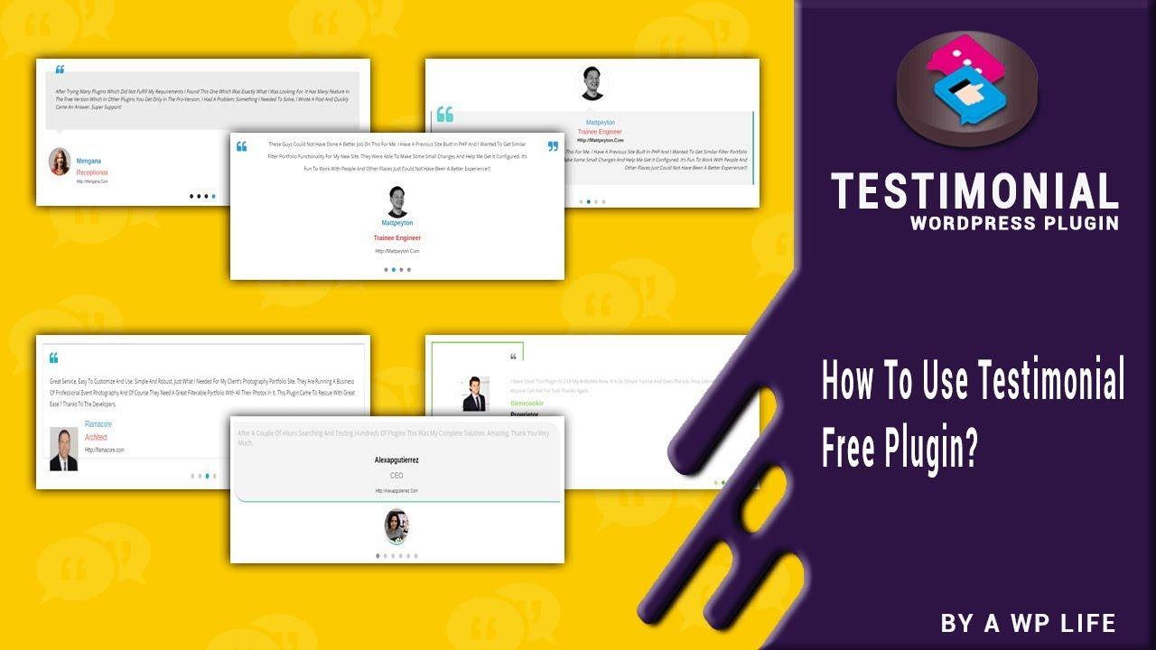 Testimonial Wordpress Plugin - How To Use Testimonial Free Plugin