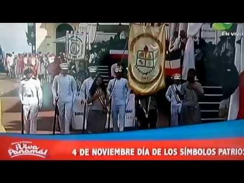 Lincoln academy desfilando ante el Presidente de Panamá