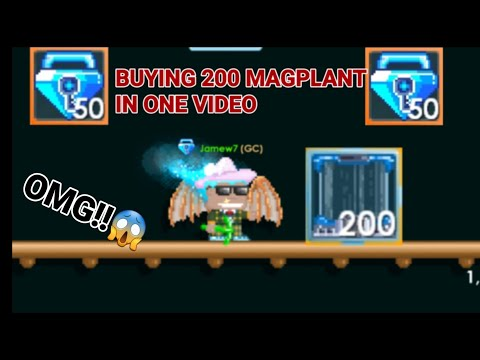 """""""BUYING 200 MAGPLANT IN ONE VIDEO!"""" (FOR 50 BLUE GEM LOCK!) OMG!! - Growtopia"""