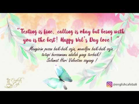 Ucapan Valentine Untuk Pacar Dalam Bahasa Inggris Dan Artinya
