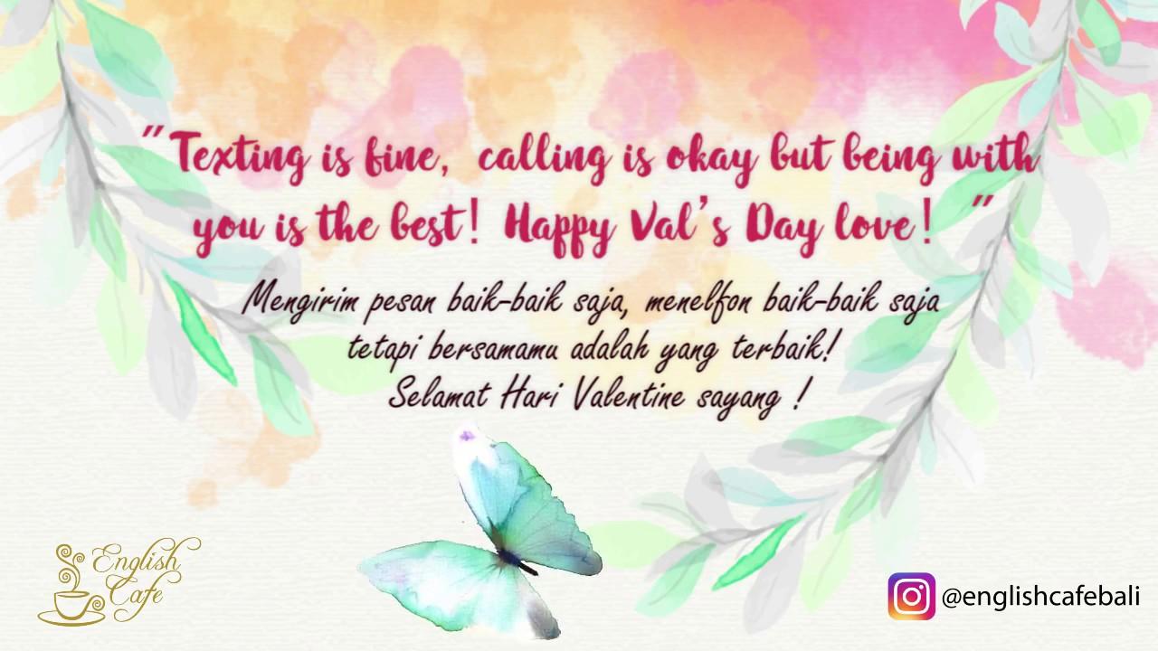 Ucapan Romantis Untuk Pacar Di Hari Valentine Dalam Bahasa Inggris
