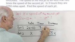 Algebra Help: Distance Rate and Time