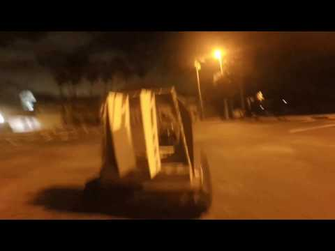 Hovercraft Parking Lot Testing