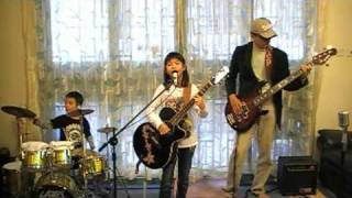 Lenka - Trouble Is A Friend (9yo kid band cover)