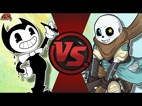 BENDY Vs INK!SANS! (Bendy And The Ink Machine Vs Undertale AU) Cartoon Fight Club Bonus Episode 14