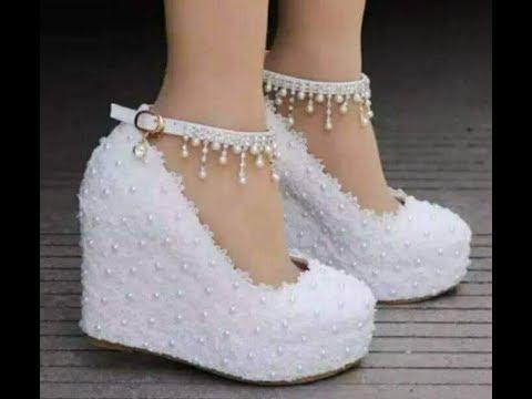 أجمل كولكشن أحذية زفاف للعرائس بيضاء لزفاف سعيد2018 - YouTube