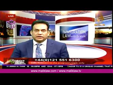 Noor TVs Immigration Law with Dr Malik  10 March  2018