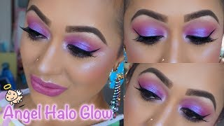 Summer Purple Halo Glow Makeup Tutorial