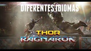 Thor Ragnarok Diferentes Idiomas